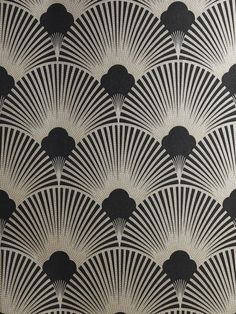 theuniversemocksme: Art Deco Metallic Wallpaper Pattern | WS128 Wallpaper - Art Deco - Geometric Fan Motif - Surrey.