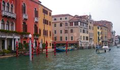 Venice, Italy Grand canal is where you'll take the big water taxis/buses to your destination within the city. You can't drive in Venice, so you have to rely on your feet or boats to get around