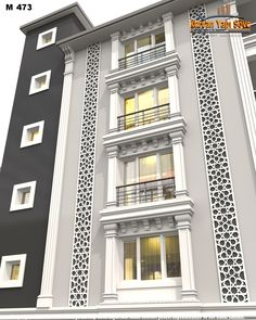 Modern Architecture House www. Classic House Exterior, Classic House Design, Modern House Design, Architectural Design House Plans, Modern Architecture House, Facade Architecture, House Outside Design, House Front Design, House Cladding