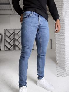 Denim Jeans, Mom Jeans, Colored Denim, Skinny Fit Jeans, Stretch Jeans, Looks Great, Legs, Cotton, Pants
