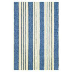 Handcrafted cotton flatweave with a striped motif.  Product: RugConstruction Material: 100% CottonColor: Blue and yellowFeatures:  Flat weaveHand-wovenHandmade Note: Please be aware that actual colors may vary from those shown on your screen. Accent rugs may also not show the entire pattern that the corresponding area rugs have.