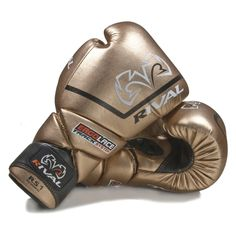 Rival High Performance Lace-Up Pro Sparring Gloves - Gold - Sugar Ray's Boxing Equipment Store - Sugar Ray's Boxing Equipment Store