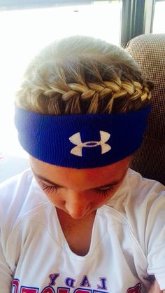 Softball Hair The Effective Pictures We Offer You About Volleyball Hairstyles for practice A quality Athletic Hairstyles, Sporty Hairstyles, Cute Hairstyles, Braided Hairstyles, Running Hairstyles, Princess Hairstyles, Formal Hairstyles, Volleyball Braids, Softball Hair Braids