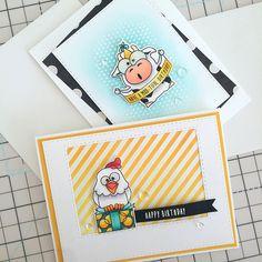 Two Farm Animal Birthday Cards