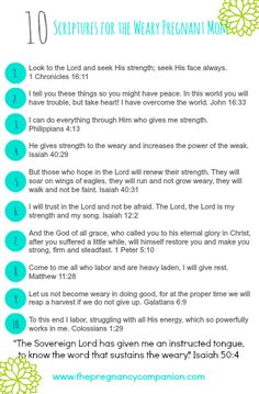 10 Scriptures for the Weary Pregnant Mom - Grace for Moms