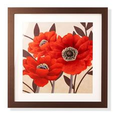 Poppies Framed Picture 60 x 60cm
