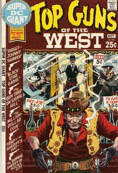 DC Super Giant S-14, featuring Guns Of The Old West (October 1970) - Cover by Joe Kubert