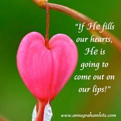 """Speaking Up for Jesus - Why do we seem to make speaking up for Jesus so complicated? If He fills our hearts, He is going to come out on our lips! Like Peter and John (Acts 4:20), we will not be able to help """"speaking about what we have seen and heard"""" of Him! (The Joy of My Heart Devotional - January 12)   Anne Graham Lotz"""