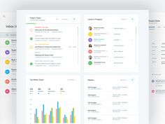 More shots from the CRM Dashboard we worked on. Check the attach for the profile, inbox and home pages. Design @Filip Justić