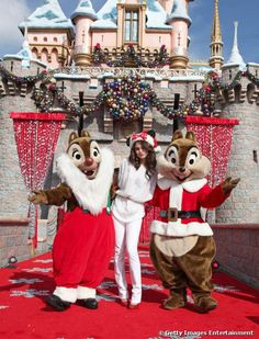 Selena Gomez at Disneyland in Anaheim,California