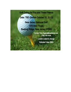 Golf Outing for 4 - All proceeds benefit our #PSU Chapter Scholarship Fund. RSVP for Member Appreciation Night NOW to be able to bid! http://pennstatecnj.com/member-appreciation-night1