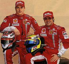 Kimi Raikkonen and Felipe Massa, 2008