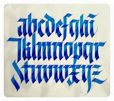 blackletter / Alphabets by Sachin Shah