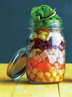 Recipe : カレー&クミン風味のジャーサラダ/スパイシー味でたっぷり食べられる