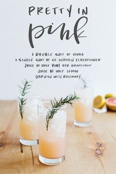 Grapefruit vodka cocktail with st. germain and rosemary