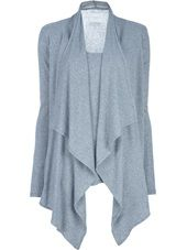 Lounge Lover - Innocence Pure Long Sleeve Wrap Tee in Grey Lounge Wear, Tunic Tops, Lovers, Sweaters, Cardigans, Pure Products, Tees, Long Sleeve, Jackets