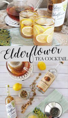 A hot or cold relaxing tea cocktail made with chamomile tea, Belvoir Elderflower Cordial, vodka, and lemon juice. #ad #worldmarkettribe // www.ElleTalk.come