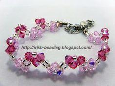Irish Beading: Pink Flower Bracelet