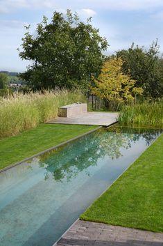 Swiming Pool, Swimming Pools Backyard, Swimming Pool Designs, Outdoor Tub, Outdoor Landscaping, Simple Pool, Natural Swimming Ponds, Pool Landscape Design, Garden Design Plans