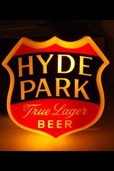 Hyde Park Beer Sign