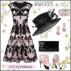 Spring formal by Alexander McQUEEN by pumsiks on Polyvore featuring mode, Alexander McQueen, L.K.Bennett, Elie Saab, John Lewis, McQueen and springformal