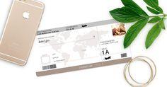 Gutschein Karte als Flugticket