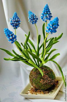 Polymer clay handmade flowers by Lyudmila Dimitrenko. Интерьерные композиции ручной работы. Ярмарка Мастеров - ручная работа Мускарики. Handmade.