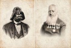 Any Three Vintage Victoria Star Wars Portrait Limited Edition Art Prints