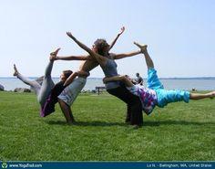 #Yoga Poses Around the World: Group Shot taken in Bellingham, WA, United States by Lo Nathamundi