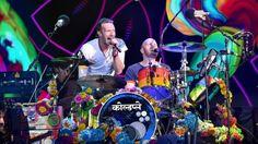 Coldplay performing at Glastonbury 2016