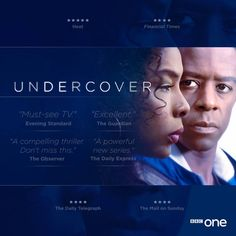 "BBC One .. ""To love, honour... and betray."" There's no such thing as a happily ever after when you're #Undercover."