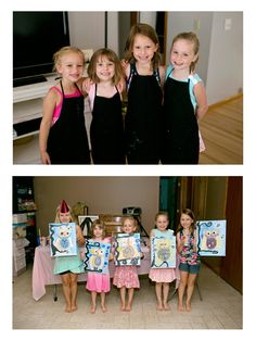 Wonderful Little Artists Birthday Party Painting A Whimsical Owl Artist