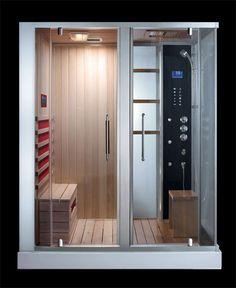 Combinée douche hammam sauna THALIA x 120 x 228 cm