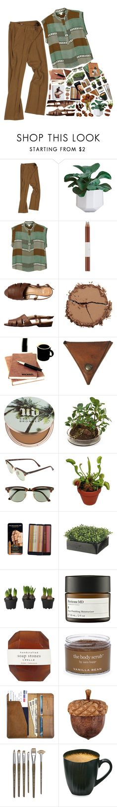 """""""words never once cut me down"""" by tanja-bp ❤ liked on Polyvore featuring Vereteno, Monki, Faber-Castell, Chantecaille, Palila, Urban Decay, Distinctive Designs, Ray-Ban, CO and ...Lost"""