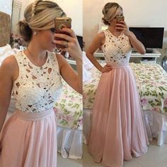 We all want a fabulous elegant dress on a party, this dress says it all. It features a lovely embroidered lace with pearl detailing, sleeveless, zipper closure, pleated maxi skirt with lining. Crafted