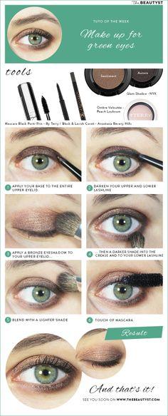 Make Up Tutorial: Make up for green eyes