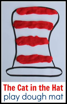 Cat in the Hat Math Play Dough Mat from Coffee Cups and Crayons