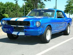 1960s Ford Mustang with White Stripes <3