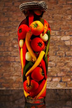 Sarabella Tuscan Art, Peppers and Tomatoes