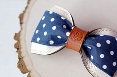 Blue Polka Dots, Navy Blue, Bows, Bow Ties, Leather, How To Wear, Accessories, Collection, Fashion