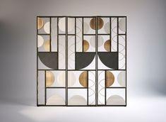 Art Deco Period Influences in Contemporary Interior Design Home Design, Design Hotel, Interior Design, Partition Screen, Partition Design, Screen Doors, Geometric Furniture, Furniture Design, Deco Design
