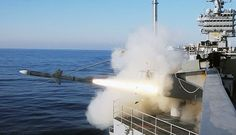 A RIM-7P NATO Sea Sparrow missile is launched from the aircraft carrier USS Harry S. Truman (CVN 75). (July 2009)