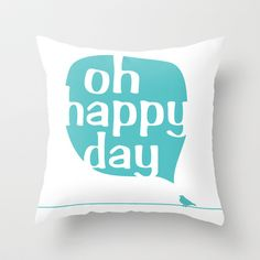 This pillow fits so well in the happy style I want for my home