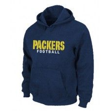 Wholesale Men Green Bay Packers Authentic Font Pullover Hoodie - Dark Blue_Green Bay Packers Pullover Hoodie