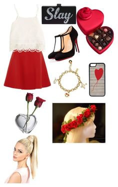 """Untitled #311"" by jollyranchersforeverhashtagblue ❤ liked on Polyvore featuring Godiva, Kate Spade, CellPowerCases, Simon Pearce, Miu Miu, Swell and Christian Louboutin"