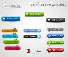 Nice Clean E-Commerce Web Buttons. Website: http://www.design3edge.com/ Demo: http://www.design3edge.com/2010/07/09/clean-e-commerce-web-buttons/ Features 1. Easy change colors 2. .psd files are well organized 3. Fully Customizable 4. Only free/system fonts Graphics Files Included: Layered PSD Font used : Arial Calibri & Century Gothic The zip file contains : > 1 .PSD file ; fully layered & editable. > 1 High-resolution JPG Preview file  #blue #buttons #buy #cart #checkout #clean #download…