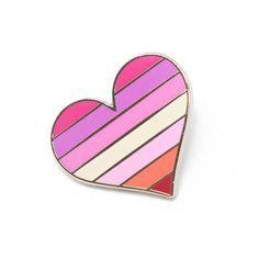 Lesbians pride pin gay lapel pin lesbian flag pin heart