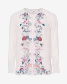 Acanthus Scroll mirrored top - Light Pink | Tops & Tees | Ted Baker