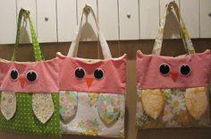 The Vintage Sheet Blog: Owl bags
