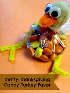 Thanksgiving Candy Turkey Favors Easy to Make and Guests will love these little Candy:)